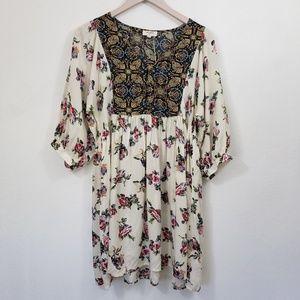 Umgee Boho Tunic Top Mini Dress Small